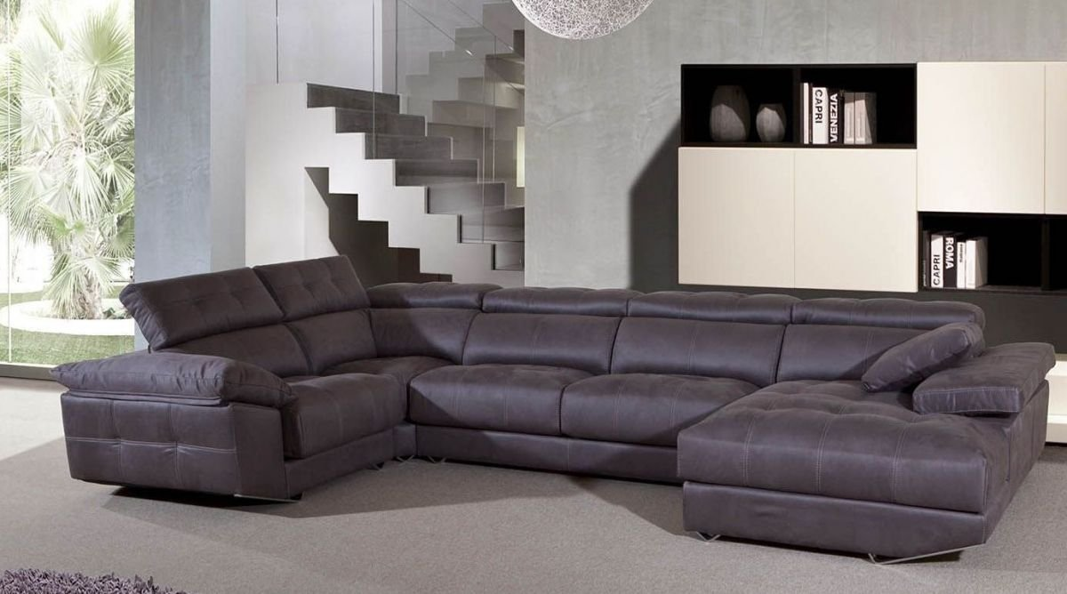 Sof chaise longue relax moderno im genes y fotos for Sofas de piel con chaise longue