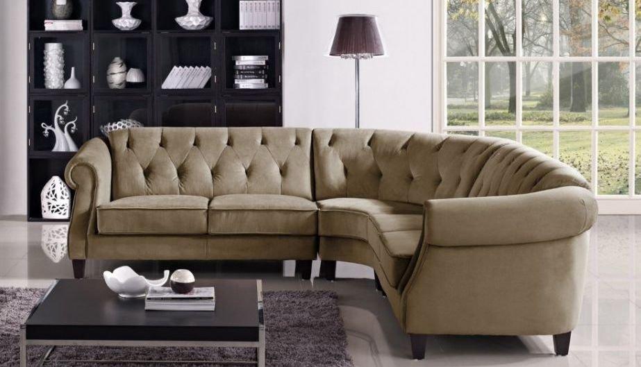 Sofá de ángulo Chesterfield moderno