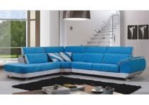 Sofá de tela color azul