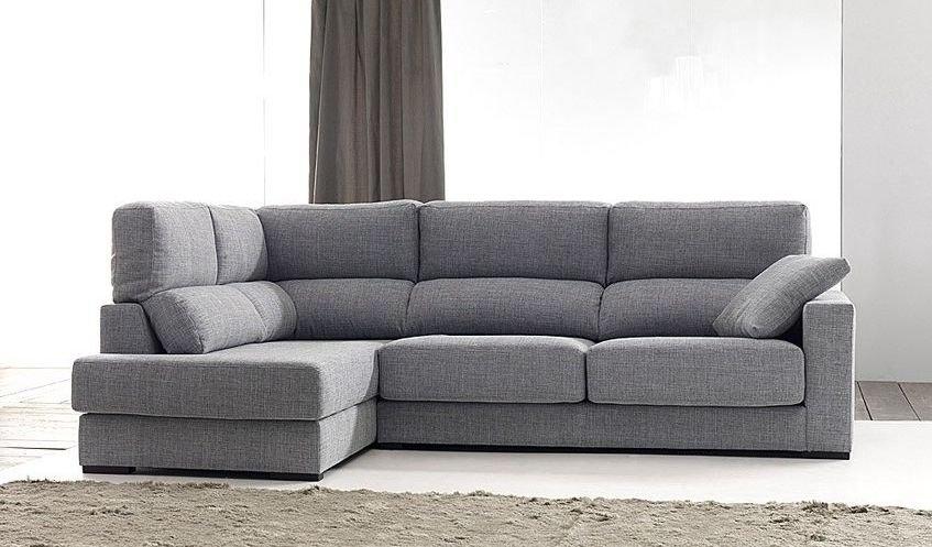 Sofá de tela clásico con respaldos reclinables