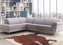Sofá rinconera de aspecto moderno
