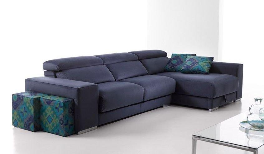 Sofá rinconera en oferta y tonos azules