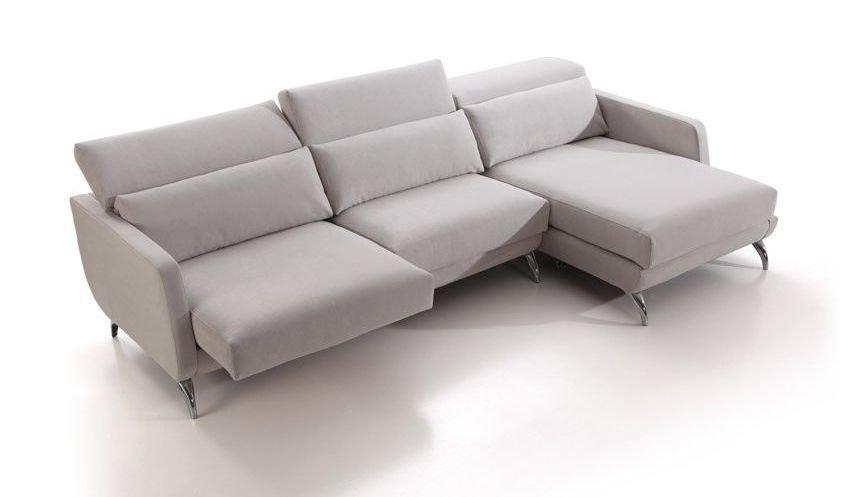 Sofá rinconera pequeño con chaise longue